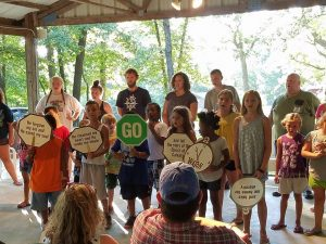 The children sang song from the week, quoted their memory verses, and gave testimonies about their week at camp.